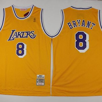 Lakers Gold Bryant Retro Jersey 8