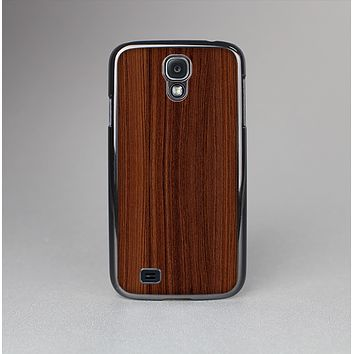 The Walnut WoodGrain V3 Skin-Sert Case for the Samsung Galaxy S4