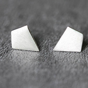 Minimalist Geometric Earrings, Sterling Silver Geometric Stud Earrings, bar earrings, Minimalist studs earrings Jewelry, gifts for her
