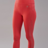 Gymshark Sleek Sculpture Leggings 2.0 - Intense Coral