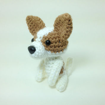 Chihuahua Crochet Dog Amigurumi Stuffed Animal Dog by Inugurumi
