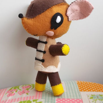 Fauna from Animal Crossing New Leaf felt stuffed animal