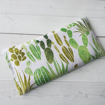 cactus Aromatherapy Eye Pillow - lavender / flax seeds - yoga mask - spa sleep relaxation stress relief - coworker teacher - succulants