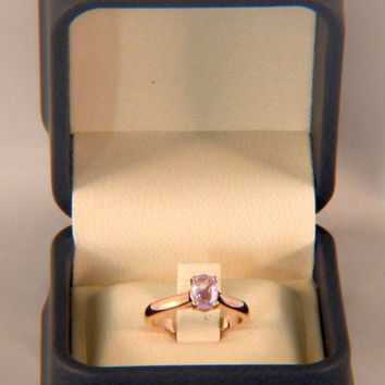 Women's 14k rose gold engagement ring with Purple Sapphire center 0.80 carat