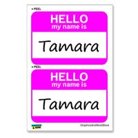 Tamara Hello My Name Is - Sheet of 2 Stickers