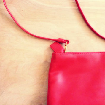 Vintage Dead Stock Solid Red Purse