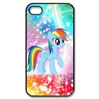 DesignerDIY Custom Artistic Cover My Little Pony Series Rainbow Dash Hard Shell Case For iphone 4/4s IP4Feb23011
