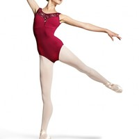 Mirella Peacock Plume Shaped Front Yoke Tank Leotard / Bloch