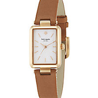 Kate Spade New York - Paley Mother-Of-Pearl, Rose Goldtone Stainless Steel & Leather Strap Watch - Saks Fifth Avenue Mobile