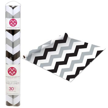Shelf Liner - Chevron Gray