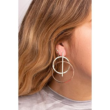 Luxe Double Thick Loop Bar Stud