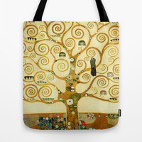 Gustav Klimt The Tree Of Life  Tote Bag by Art Gallery