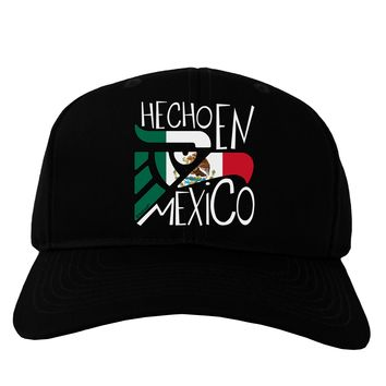 Hecho en Mexico Design - Mexican Flag Adult Dark Baseball Cap Hat by TooLoud