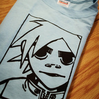 2D Gorillaz Screenprinted TShirt by mosaicshirts on Etsy