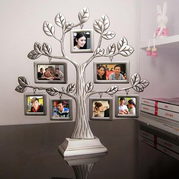 New Fashion Family Tree Metal Photo Frame Lovely Creative gifts Gift DIY Picture frame Wedding Gift home decor accessories