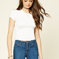 Ruffle-Trim Top