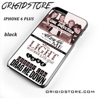 One Direction Drag Me Down Lyrics 1d For Iphone 6S Plus Case UY