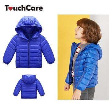 Touchcare 90% White Duck Down Parkas Kids Autumn Winter Warm Coats Boys Girls Jacket Children Clothes Baby Snowsuit Chaqueta