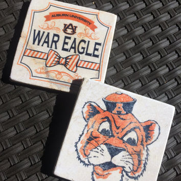 Auburn University, War eagle, Alabama, Coasters, SEC, Boyfriend gift, Tigers