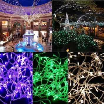 10M 100LED Bulbs Christmas Fairy Party String Lights Waterproof