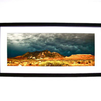 Framed Photography, Fine Art Photo, Landscape Photography, Dramatic Storm Clouds Photo, Utah Desert Landscape, Home Decor, Wall Art