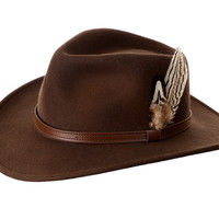Fedora Trilby Hat with Feather Detail