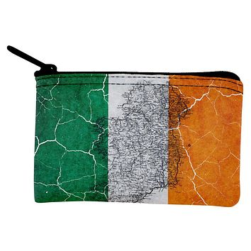 St Patrick's Day Vintage Irish Map Flag Distressed Coin Purse