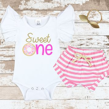 Sweet One Pink Shorts Outfit