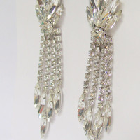 Bridal Rhinestones Earrings Vintage Juliana Style Earrings