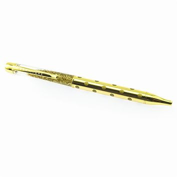Good as Gold Luxe Click Pen with Glitter and Polka Dots in Gift Box