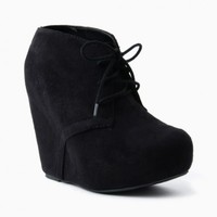 THEO WEDGE BOOTIES IN BLACK
