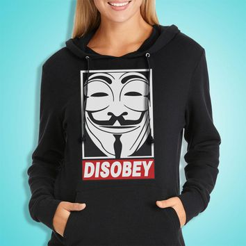 Anonymous Vendetta Disobey Obey Women'S Hoodie