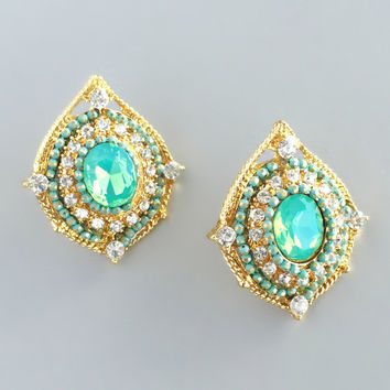 Greican Sea Crystals Earrings