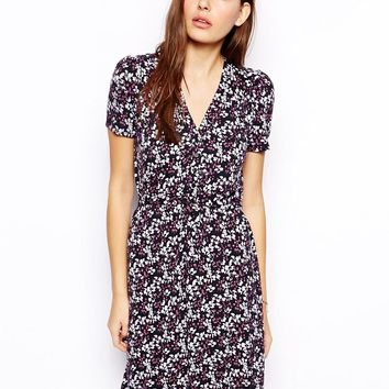 French Connection Tea Dress In Francesca Floral Print
