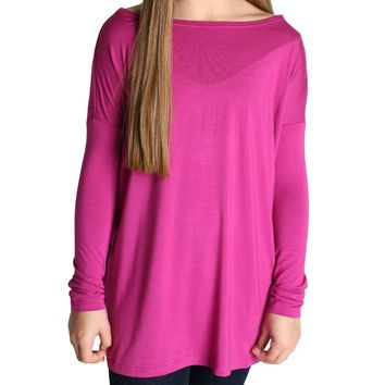 Purple Piko Kids Long Sleeve Top