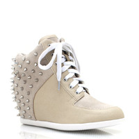 spiked-wedge-sneakers BLACK LTGREY TAUPE - GoJane.com