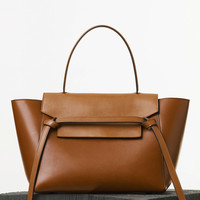Mini Belt Bag in Natural Calfskin