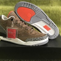 Air Jordan 3 Retro Tinker NRG Coffee/Gray Sneaker Shoe