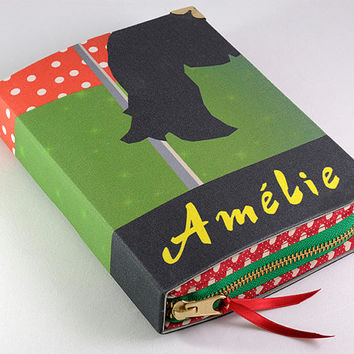 Amelie Book Clutch Red and Green