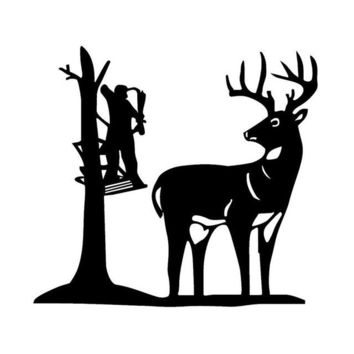 Deer Cartoon Living Room Decor Light Switch Wall Decal