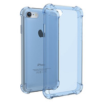 Fashion Blue Crystal Clear Series Soft TPU Case Protective UNBreak Back Cover for iPhone 7 7Plus & iPhone se 5s 6 6 Plus +Gift Box