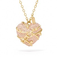 Coach :: New Pave Heart Vine Necklace