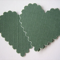 20PCS - Scrapbooking, Jewelry Design, Collage, Cardmaking and Crafting - 3cm - Hearts - Green