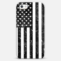 Black and White Dirty Vintage American Flag USA iPhone 5s case by Rex Lambo | Casetagram