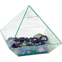 Art Glass Pyramid Energizer - Crystal
