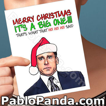 Holiday Cards | The Office | Pam Beesly Unique Christmas Cheeky Christmas Boyfriend Gift Gift For Boyfriend Boyfriend Card Christmas Cards