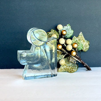Wiesenthal Hutte Heavy Glass Angel Candle Holder