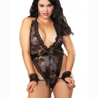 Dreamgirl Plus size Teddy And Wrist Restraint