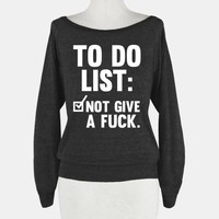 To Do List Not Give a Fuck