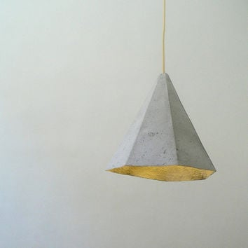 "Paper mache pendant lamp ""Quartz"", paper pulp hanging lamp, paper lamp shade, modern, eco-friendly, paper lamp,"
